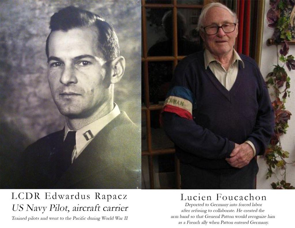 Edwardus Rapacz, US Navy and Lucien Foucachon, Frenchman