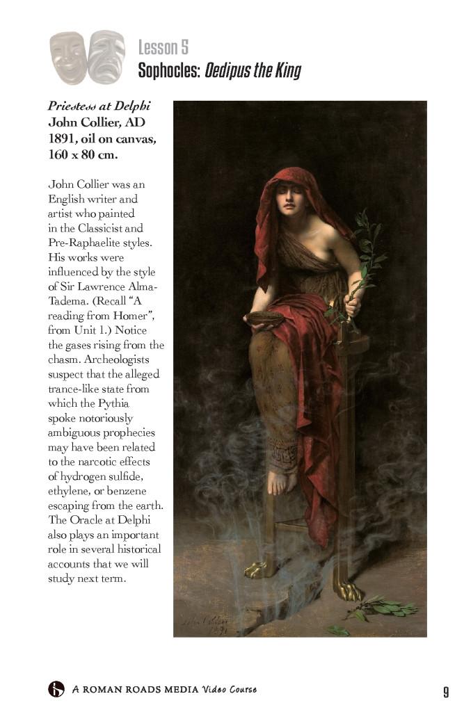 Priestess at Delphi John Collier, AD 1891, oil on canvas, 160 x 80 cm.