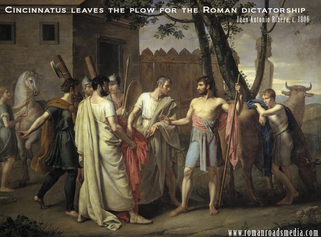 Cincinnatus leaves the plow for the Roman dictatorship  Juan Antonio Ribera, c. 1806