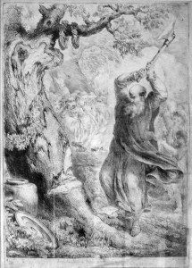 "St. Boniface, cutting down the ""Woden tree"""