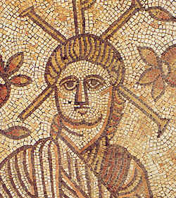 A Roman mosaic which is said to be the head of Christ
