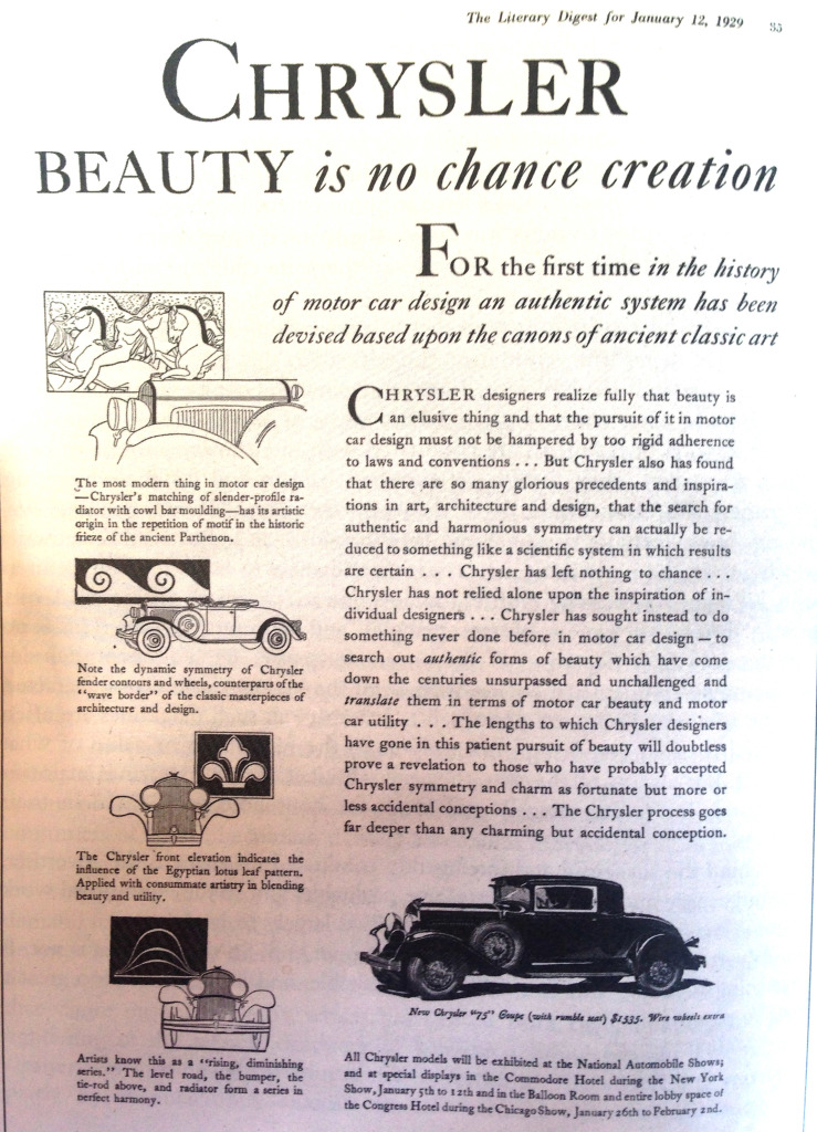 Chrysler: Tracing from the origins of classic art