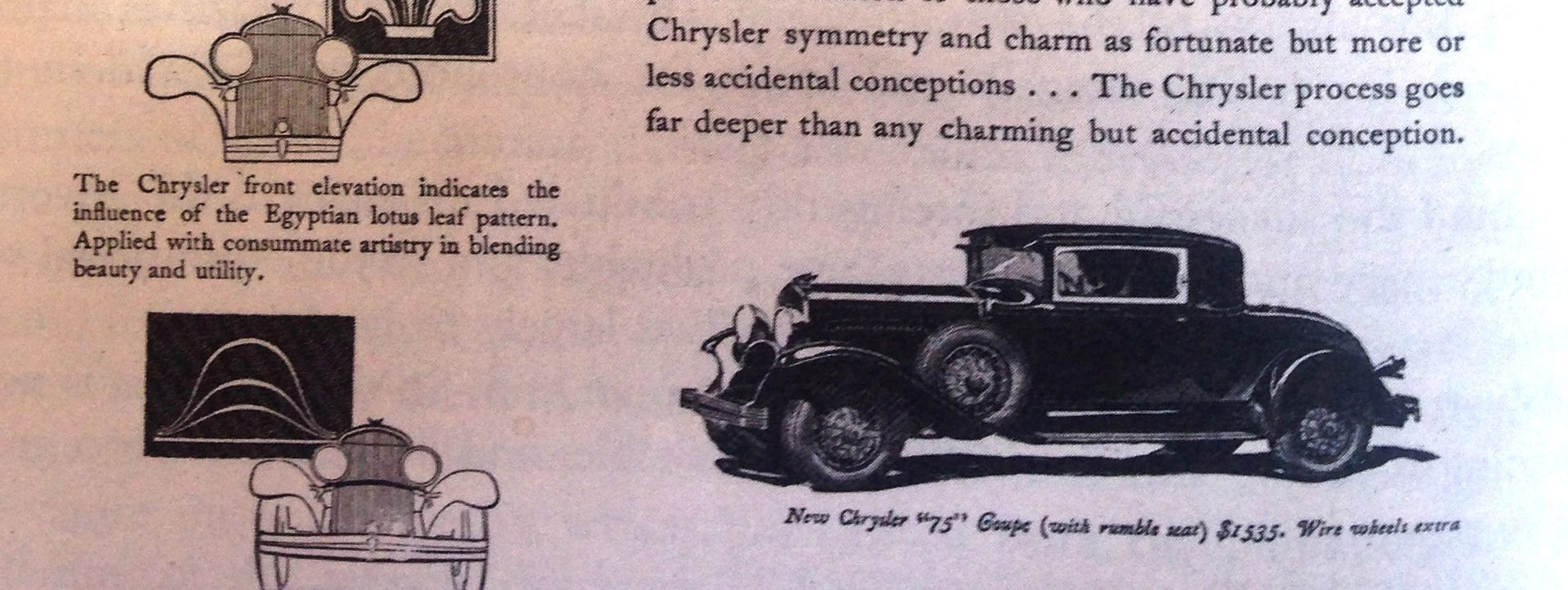 The Chrysler Motor Company and Classical Art
