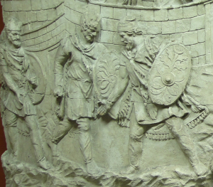Soldiers (probably barbarian) wearing breeches, or braccae