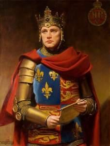 Crowned King Henry the V