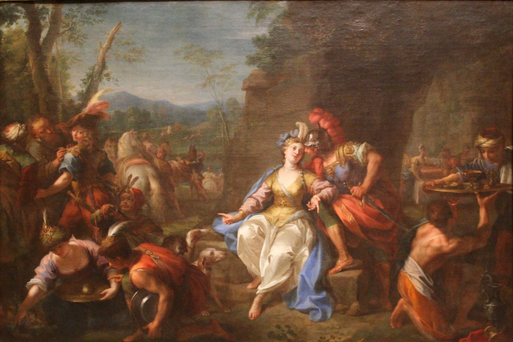 The Hunt of Dido and Aeneas, by Jean Raoux. AD 1730