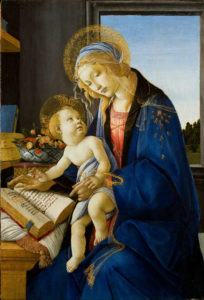 The Virgin and Child or The Madonna of the Book by Sandro Botticelli, 1480.