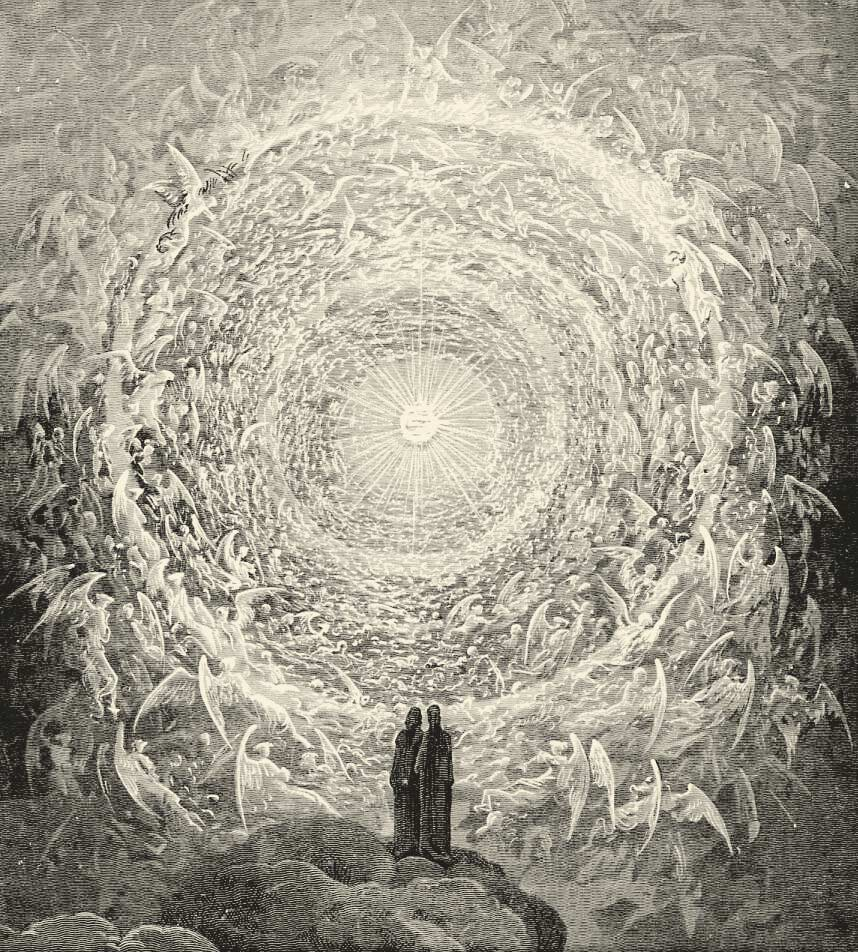 The divine dance driven by Love in Dante's Paradisio