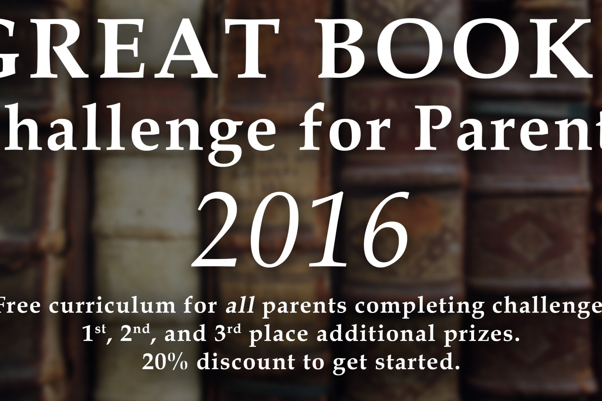 Great Books Challenge for Parents 2016