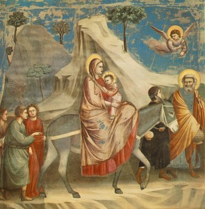 Flight into Egypt. By Giotto, AD 1306.