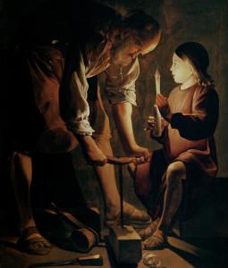 Joseph, the Carpenter. By Georges de la Tour, 1645