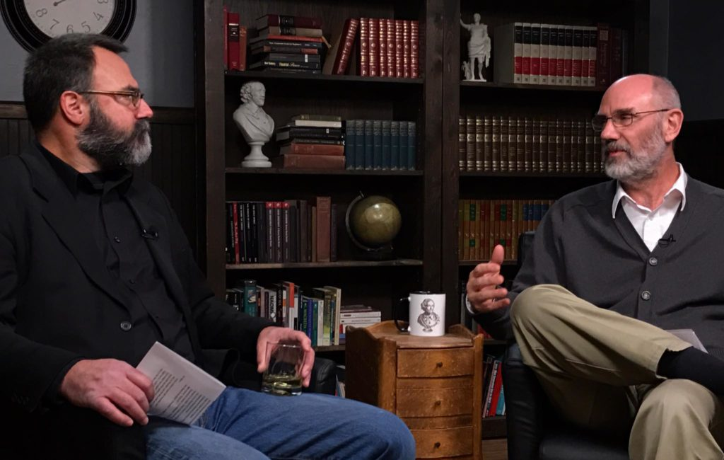 Wes Callihan and Peter Leithart on the Old Western Culture set discussing Rise of England