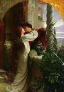 Scene from Romeo and Juliet, by Frank Bernard Dicksee, 1884.