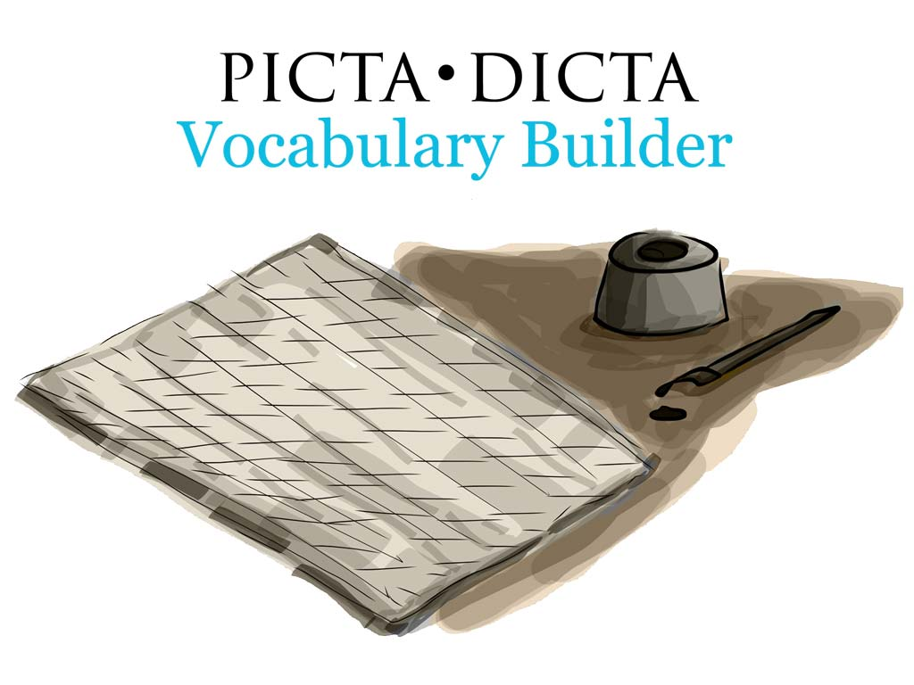 Picta Dicta Vocabulary Builder Graphic