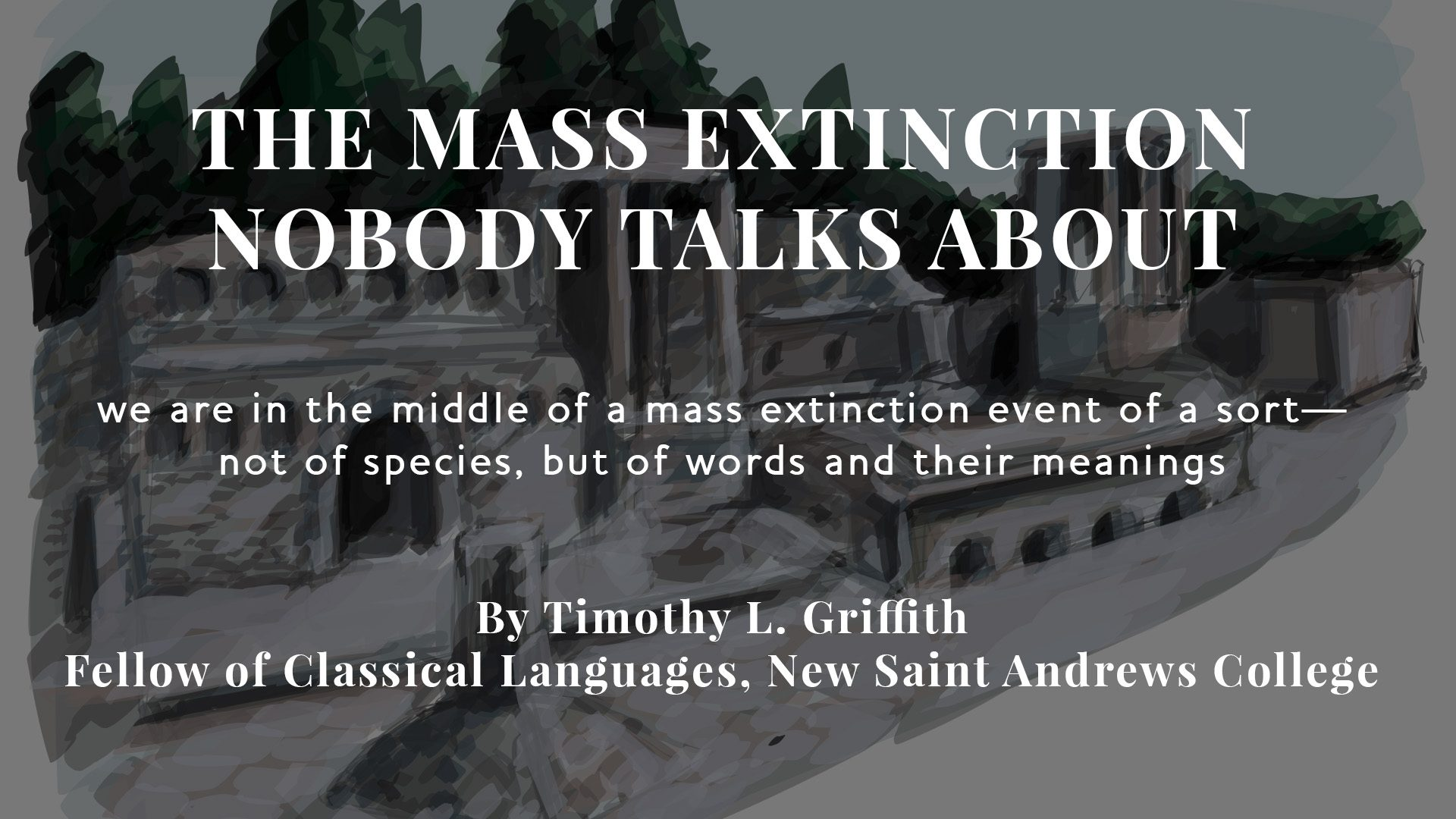 The Mass Extinction Nobody Talks About
